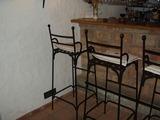 Kované barové stoličky - tyhle se Vám nerozviklají!!